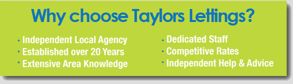Why choose Taylors Lettings?